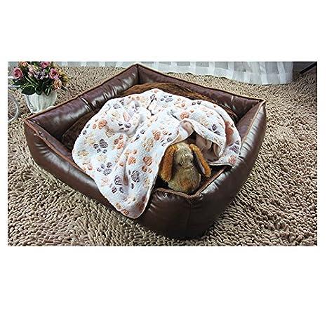 doitsa 1pcs /épaissir terciopelo de coral portadas para mascotas kennel Pad carpetas para gatos y perros carpetas de oto/ño y de invierno Fournitures para animales