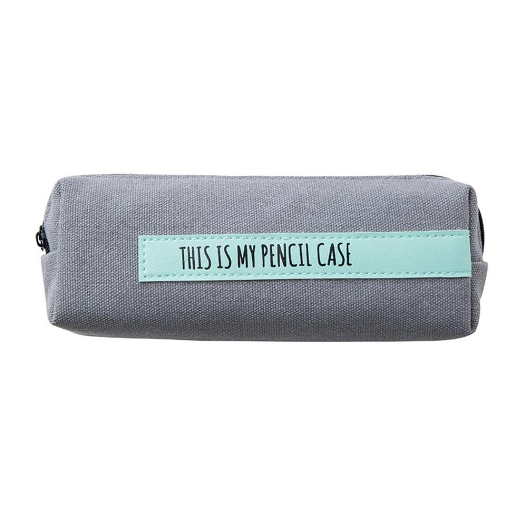 Clearance!!! Hongxin Novelty 'This Is My Pencil Case' Linen Pencil Case Stationery School Pencil Cases Boys&Girls Pencil Case Back To School Supplies Creative Gift (A)