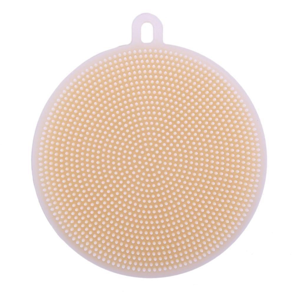 Anysell88 Silicone Cleaning Brush Dish Bowl Pot Pan Scouring Pad - Dark Brown