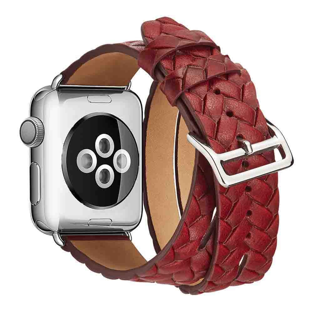 Lywey Clearance Double Tour Leather Accessory Band Replacement Bracelet for Apple Watch 4 44mm by Lywey (Image #3)