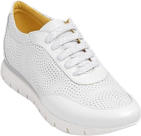 Chacal Shoes - Sneakers de Mujer - máximo Confort - Zapatillas Deportivas de Cuero 100% - Cordones algodón - Fácil Calzado - Zapatillas de Verano - EU 36 a EU 41