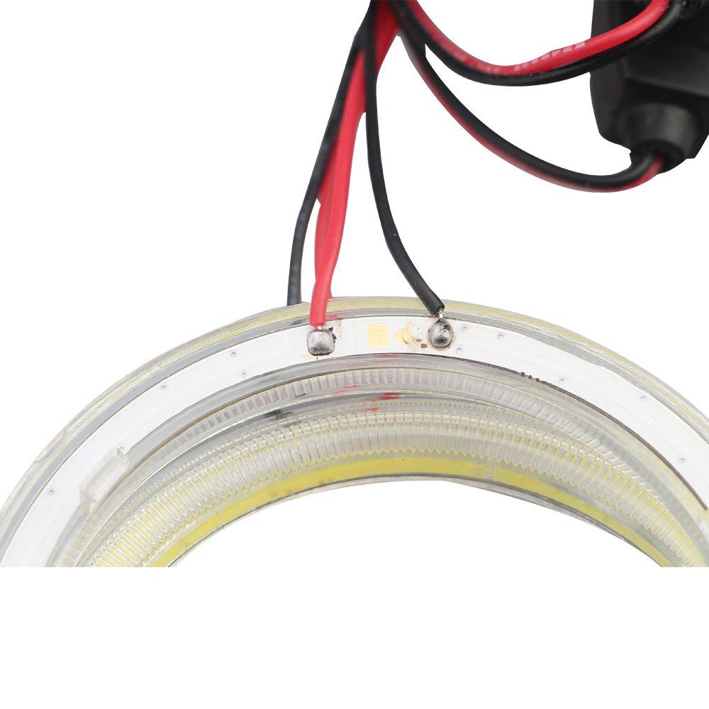 2 pezzi Bianco-60MM Grandview 1 paio corrente costante 70 mm 60SMD COB LED lampadina fari Angel Eyes Halo Anello Lampada con il riflettore 9 /¨C 30 V