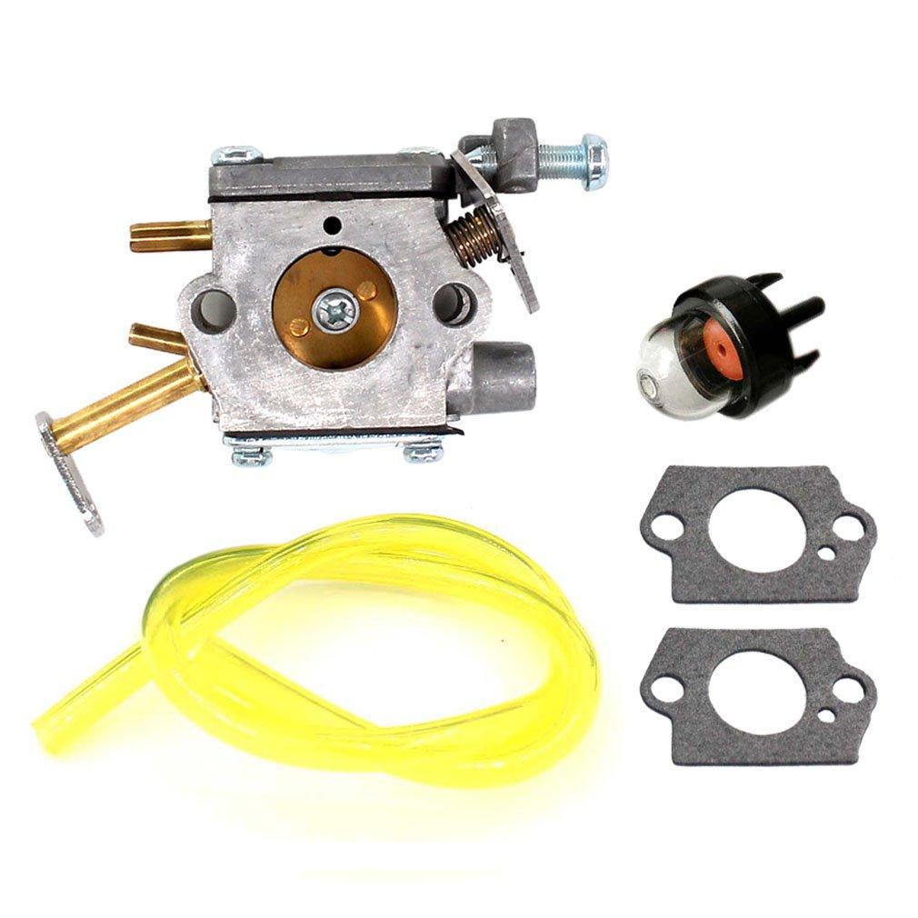 AISEN Vergaser mit Dichtung und Primer Pumpe für Homelite UT-10532 UT-10926 Ryobi RY74003D 33cc Kettensäge 300981002