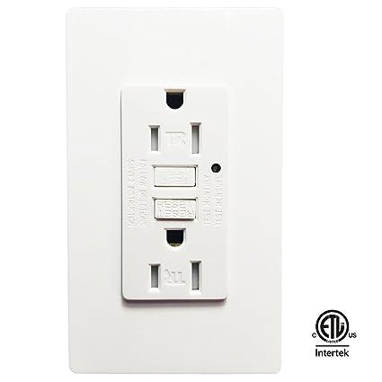 GFCI Wall Outlet -SECKATECH 15 Amp 125 Volt Tamper-Resistant ...
