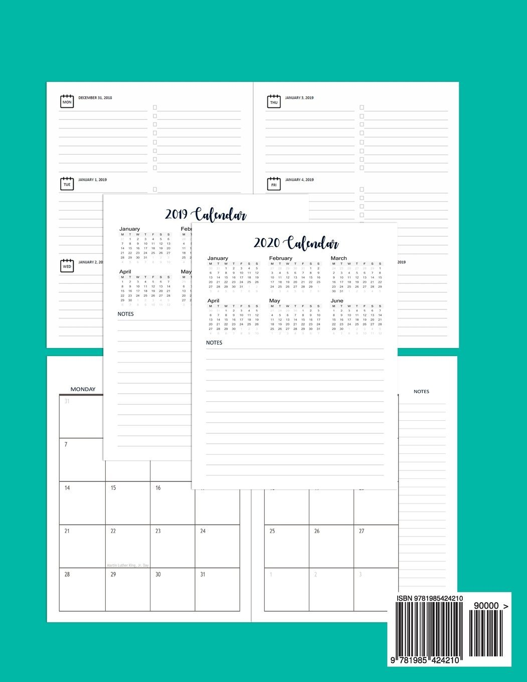2019 2020 calendar planner weekly and monthly 2019 2020 two year planner