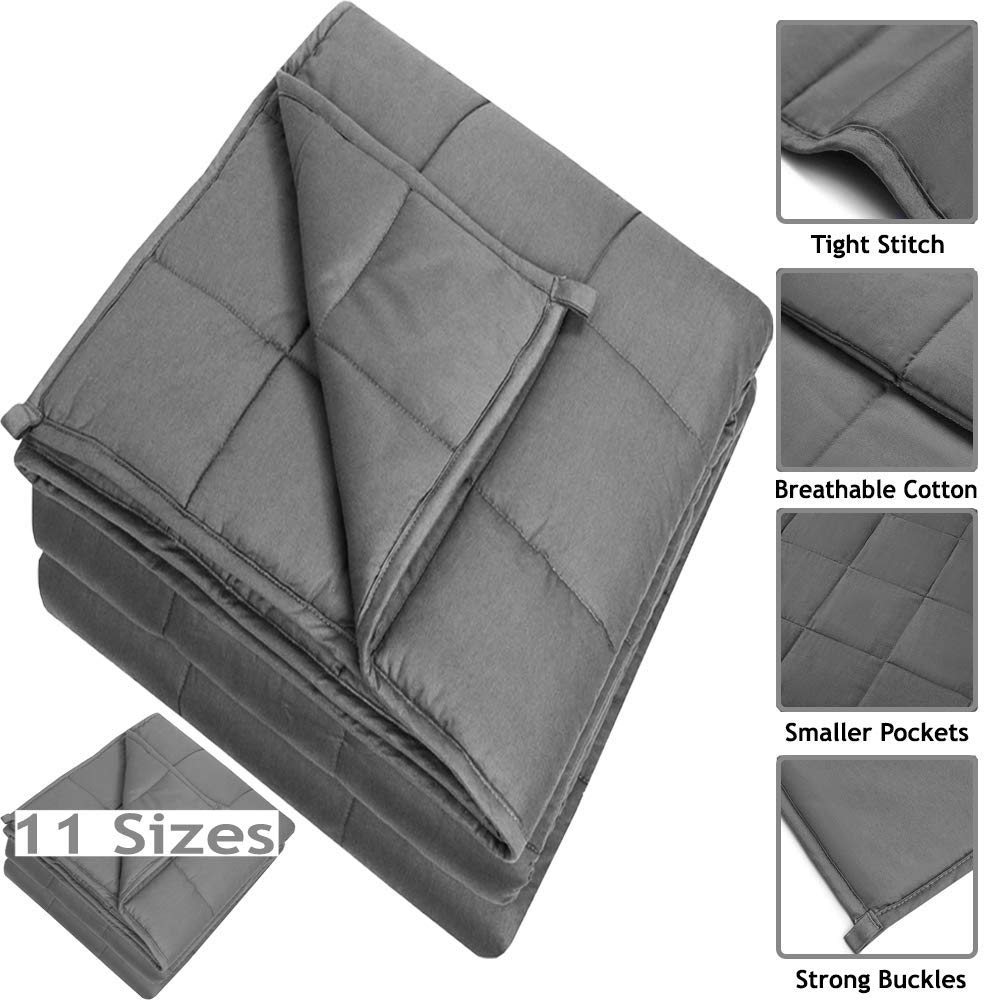 """Weighted-Blanket Soft Material for Sleeping Calming and Relaxing Comforter Cool Heavy Bed Blankets for Adults Kids Toddler and Family (59""""x79"""" 