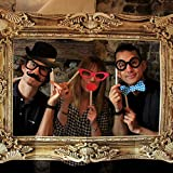 Photo Booth - Photo Frame with 24 Props for Party