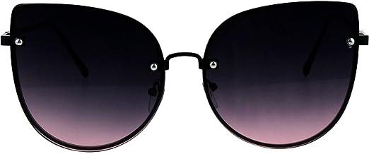 Womens Sunglasses Round Studded Rectangular Cateye Frame