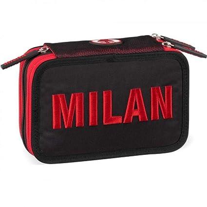 Panini 58068 - Estuche Corredo 3 cremallera AC Milan - Licencia ...