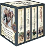 Die großen Klassiker der Abenteuerliteratur (im Schuber) - Robinson Crusoe - Moby Dick - Die Schatzinsel - Tom Sawyer & Huckleberry Finn