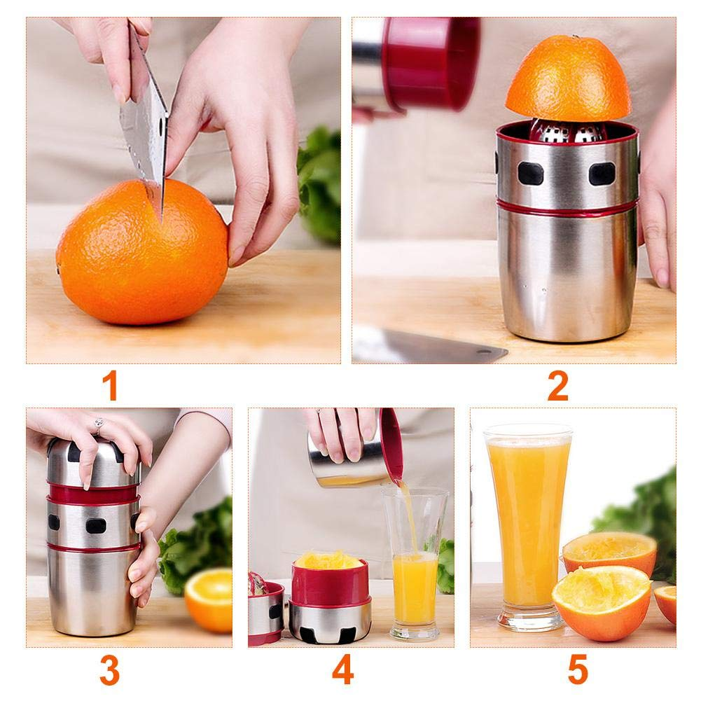 Multi-function Juicer,Portable Stainless Steel Mini Juicer,380ML Juicer Machine Cold Press Juicer for High Nutrient Fruit and Vegetable Juice,Meat Picnic Office Mandatory Props Sue Supply