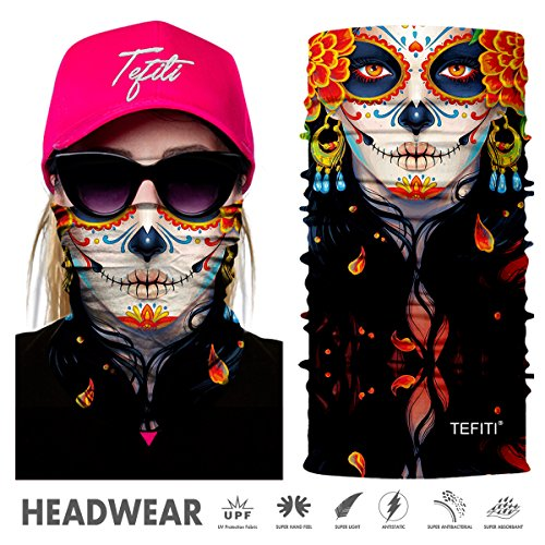 TEFITI Headwear - CocoCap Femal Versatile Sports & Casual Headband - Stretchable Face Shield and Bandana Neck Gaiter (Crazy Bandanas)