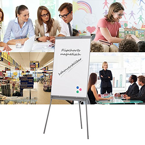 Swansea Adjustable Flipchart Easel Dry Erase Boards Magnetic Tripod Whiteboard 40X26 inches with 2 Side Arms by SwanSea (Image #5)