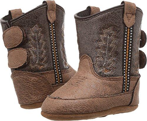 Old West Kids Boots Unisex Poppets (Infant/Toddler) Tan Vintage 2 3 M US Infant M]()