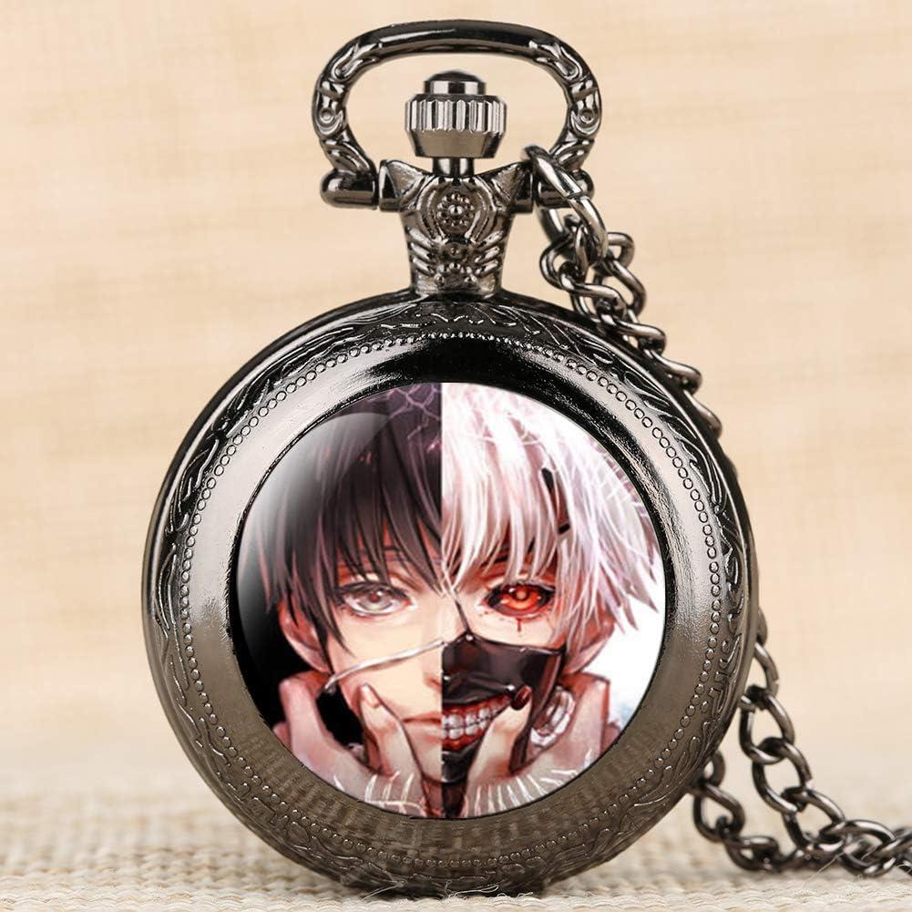 Reloj De Bolsillo Anime Tema Tokyo Ghoul Cuarzo Fob Reloj Collar ...