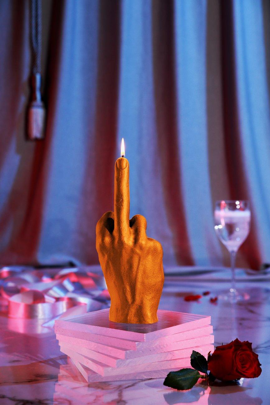 Candellana Candles Candellana-Middle Finger Candle-Orange