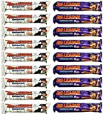 Big League Chew Chewing Gum Variety Pack of 18 (Outta Here Original and Ground Ball Grape)