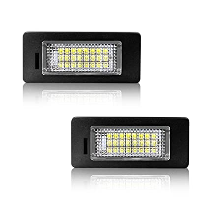 Safego Luz de matrícula LED para Coche Lámpara Número Placa Luces ...