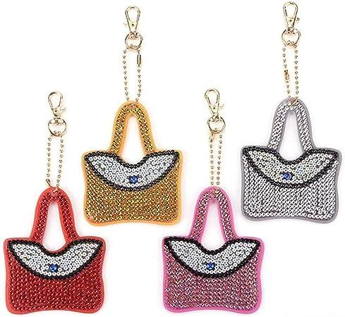 für Schmuck Schlüsselanhänger Christmas Keychain Diamond Painting Kreuz Stich