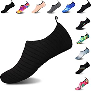6ee019411d4 Mens Womens Water Shoes Barefoot Beach Pool Shoes Quick-Dry Aqua Yoga Socks  for Surf