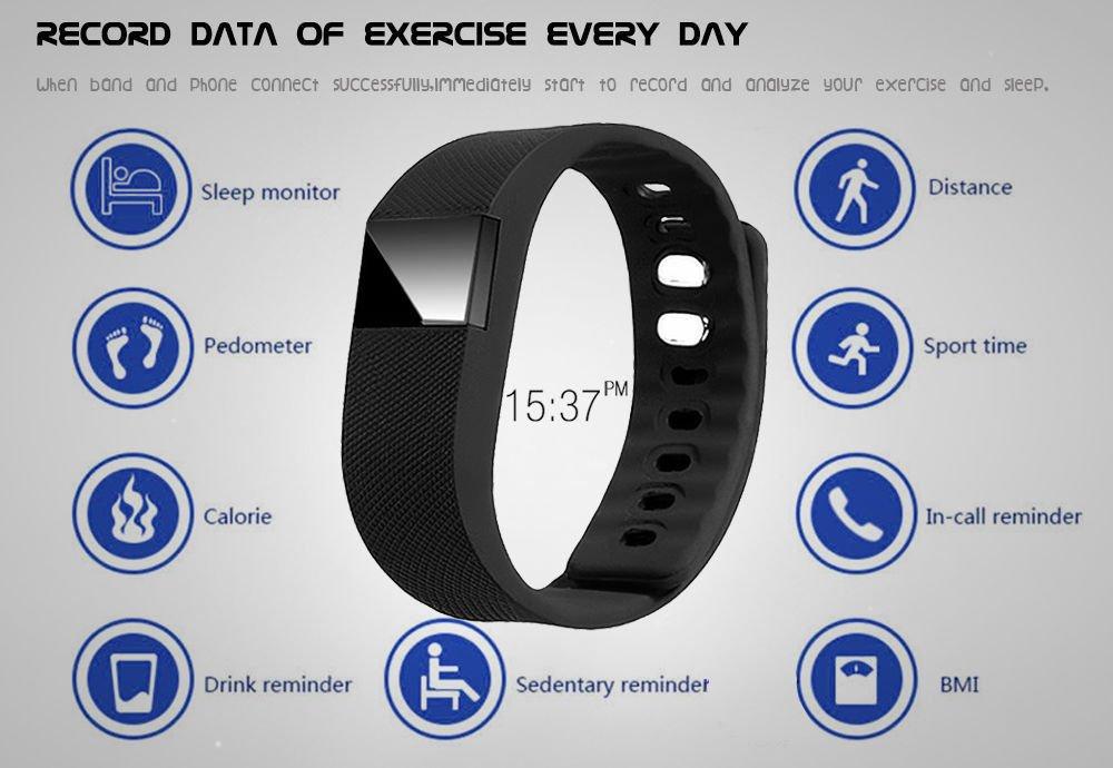 Amazon.com : Bluetooth Smart Watches Smartband Wristband Bracelet Pedometer Tracker Fitness Podometro Pulsera Relojes For Android IOS TW64 : Sports & ...