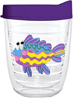 product image for Smile Drinkware USA-RAINBOW FISH 12oz Tritan Insulated Tumbler With Lid and Straw