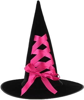 7f3fc2d00769 GEMVIE Femme Déguisement Chapeau Ruban de Soie Halloween Party Bal Fête  Fille