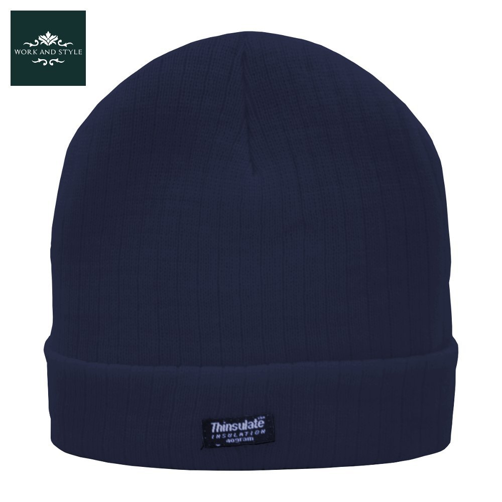 WORK AND STYLE Tyven – Thinsulate Beanie Rib Knit Hat One Size (Approx. 53-60 cm) W030900504