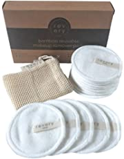 Revery Sydney Reusable Makeup Remover Pads, 16 pack - Zero-Waste & Hypoallergenic - Washable Reusable Bamboo Cotton Pads Facial Rounds for Removal of Make Up, Toner, Cleanser, Mascara with Washing Bag