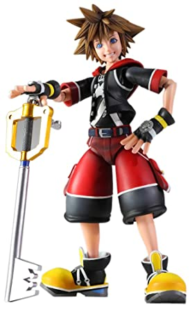 "Sora Kingdom Hearts 3D Dream Drop Distance Play Arts Kai 7.5"" Figure W/ Keyblades"
