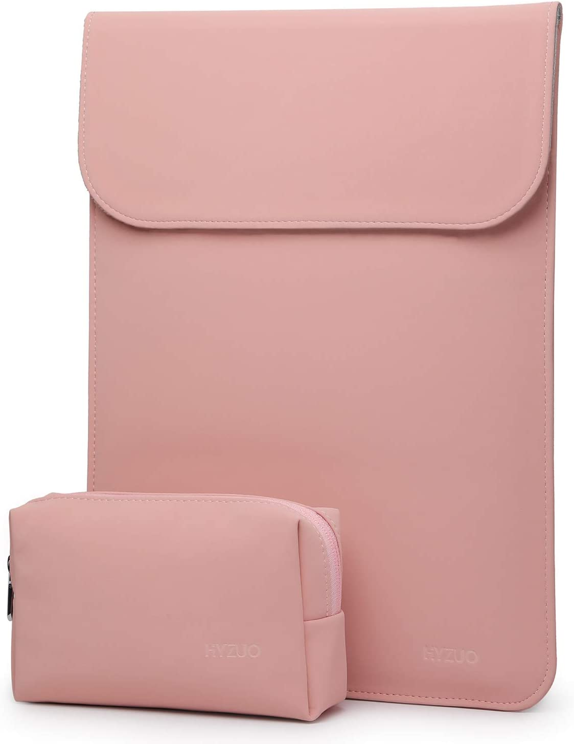 HYZUO 15-16 Inch Laptop Sleeve Case Compatible with 2019 MacBook Pro 16 A2141/ Surface Laptop 3 15 Inch/Dell XPS 15/2012-2015 Old MacBook Pro Retina 15 A1398, Pink