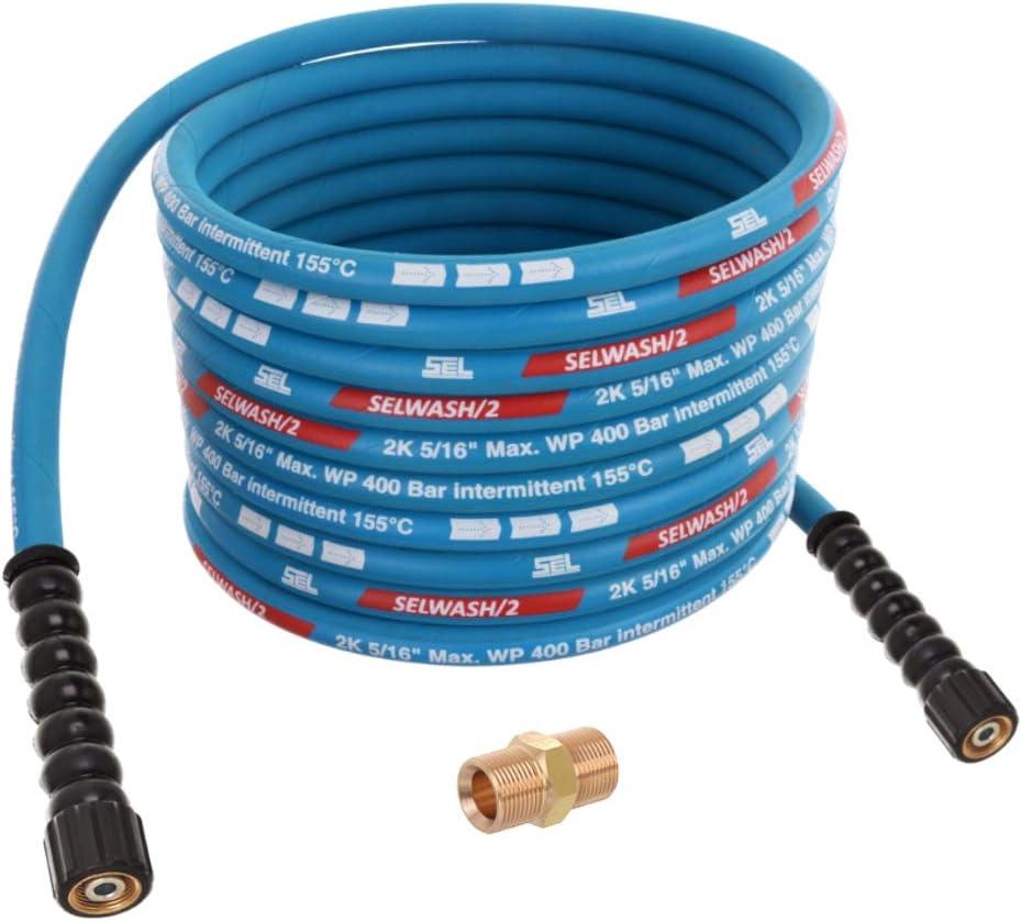 15 M Tuyau haute pression Bleu Pour Kränzle m22 paréo 150 ° C 400 bars HD-Tuyau