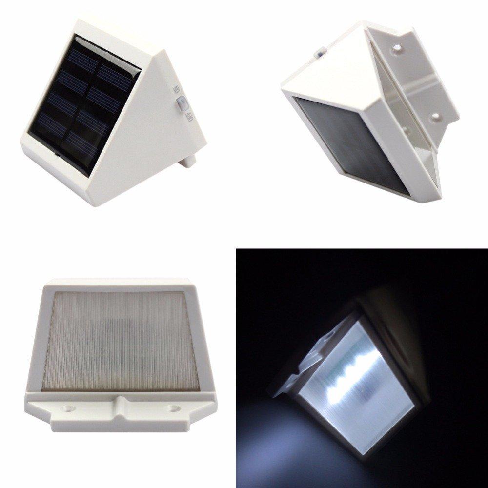 MIYA Solar Lamp Outdoor LED Waterproof Solar Fence Lamp Villa Wall Solar Wall Lamp Triangle Light -White light