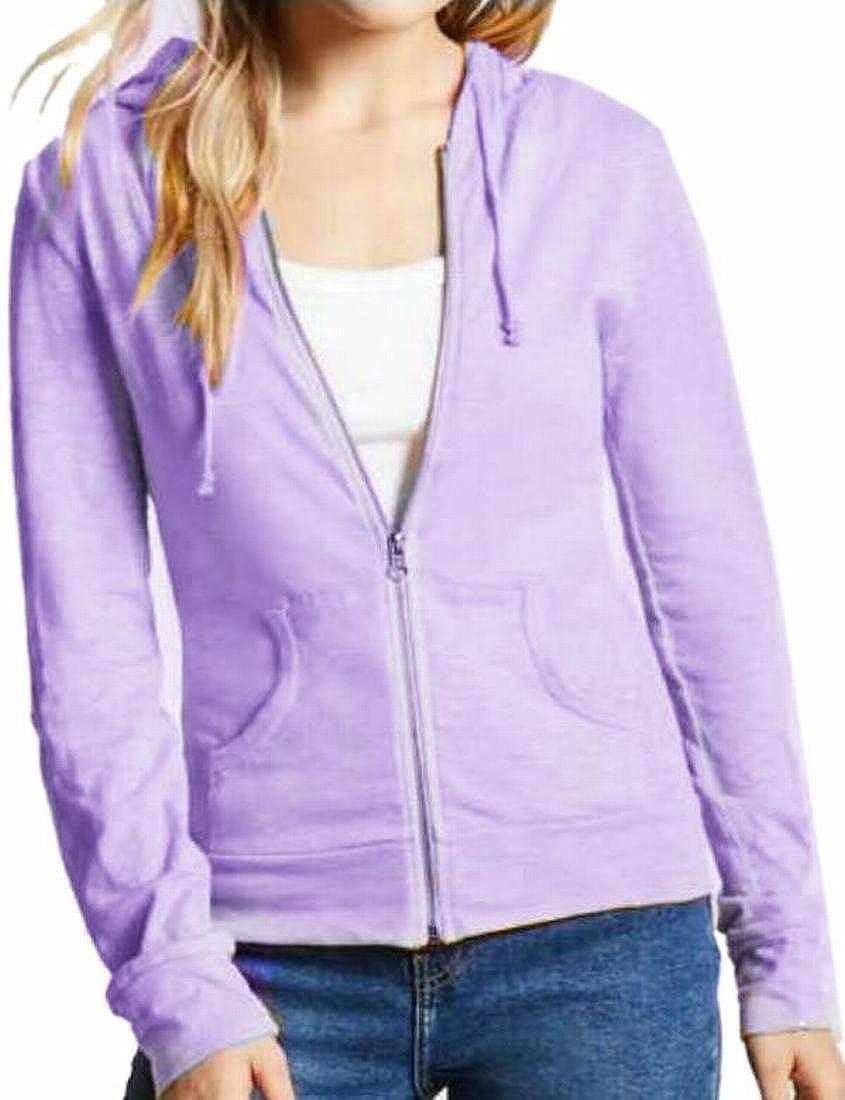 ONTBYB Womens Solid Zip up Cardigan Hoodie Sweatshirts Stylish Jacket Coat