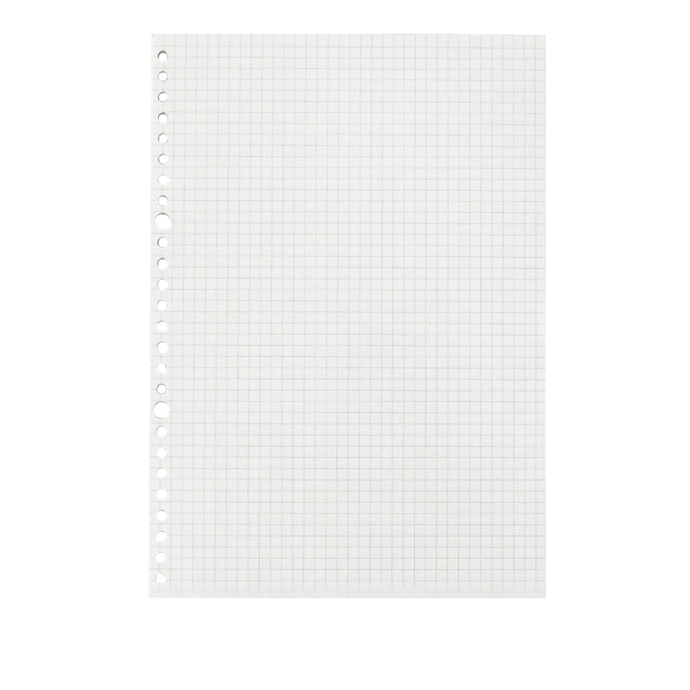 JUNDA Refill PapersB5 Size 26 Holes Grid Creamy White Paper for Loose Leaf Binder Notebook,60 Sheets/Set,3 Sets