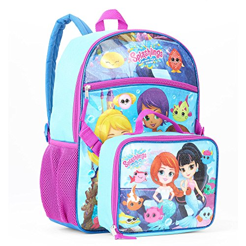 Splashlings Mermaid Backpack with Detachable Insulated Lunch Bag - Kids