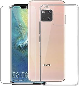 QFSM Huawei Mate 20 Pro Funda Silicona Carcasa TPU Case Cover + 1 ...