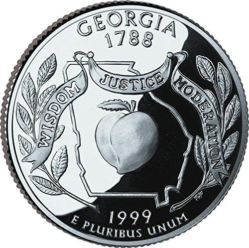 1999 Georgia - D State Quarter Roll