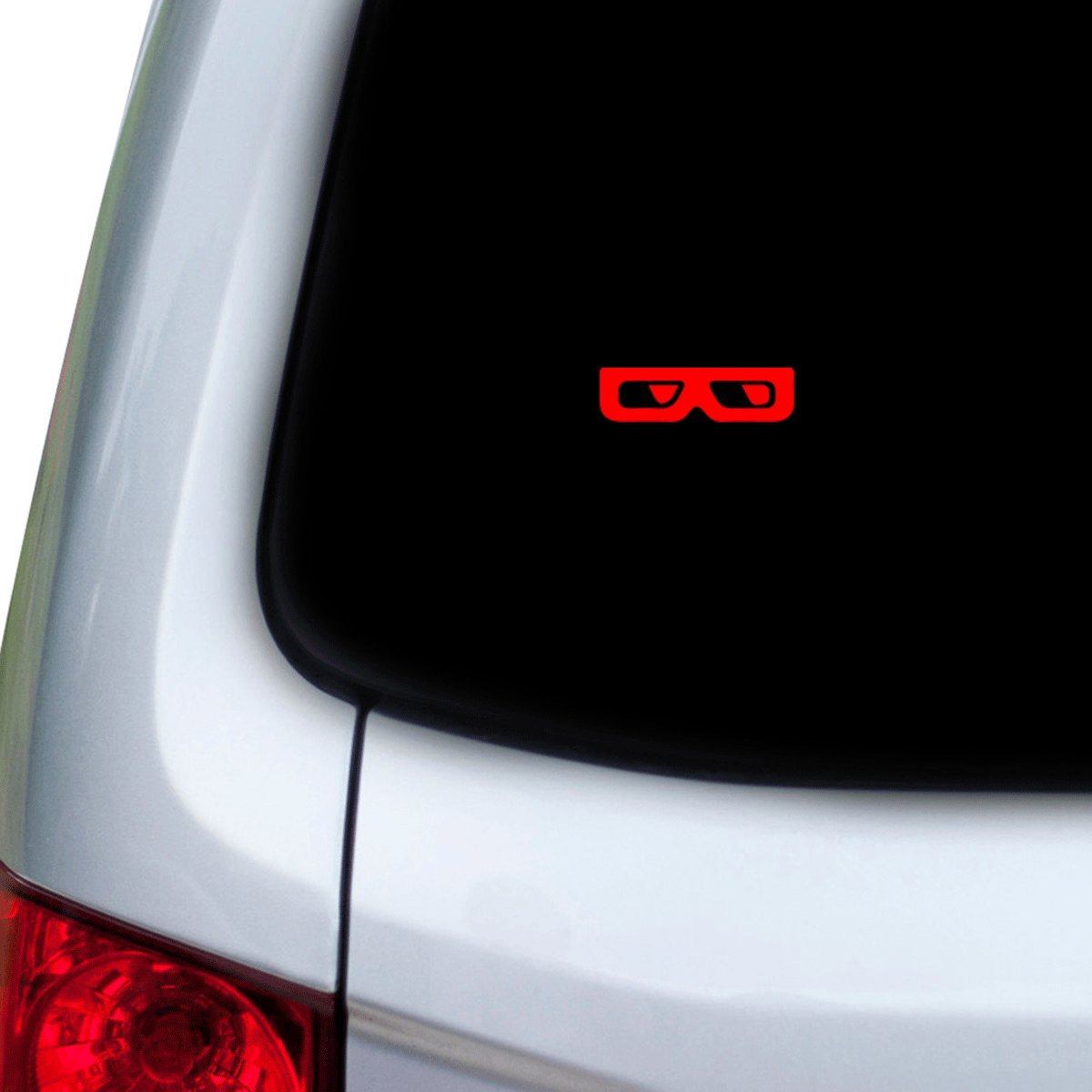 Hoods StickAny Car and Auto Decal Series 3D Glasses Frames Sticker for Windows Red Doors