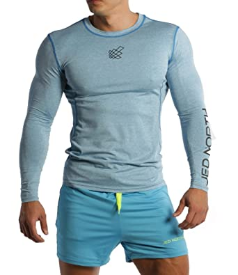 Jed North Men's Bodybuilding Workout Long Sleeve Tee Slim Fit T ...