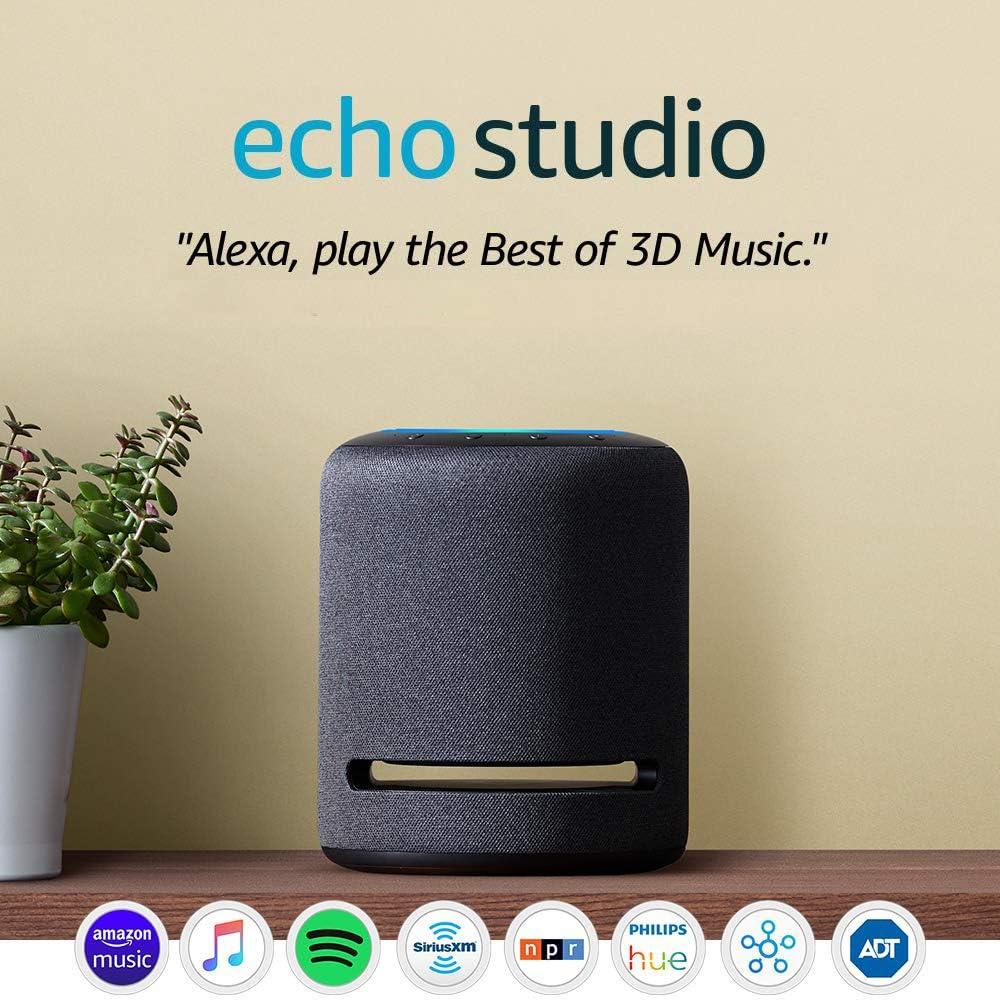 Echo Studio High-fidelity Smart Speaker with 3D Audio and Alexa