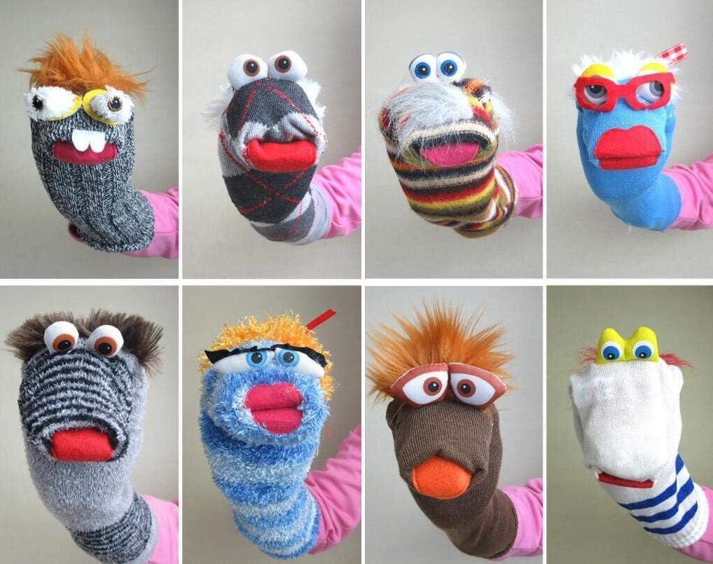 Sun Hero Juguetes para Bebé Marionetas de Dedos Cetéctica multifunción calcetín Mano marioneta (al Azar)