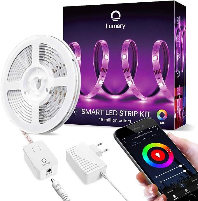 149 opinioni per Smart Strisce LED 3m -Lumary WiFi RGB Led Striscia 5050 dimmerabile, compatibile