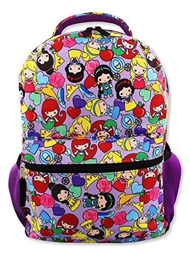 (Disney Princess Emoji Girl's 16 Inch School Backpack Bag (One Size, Purple))