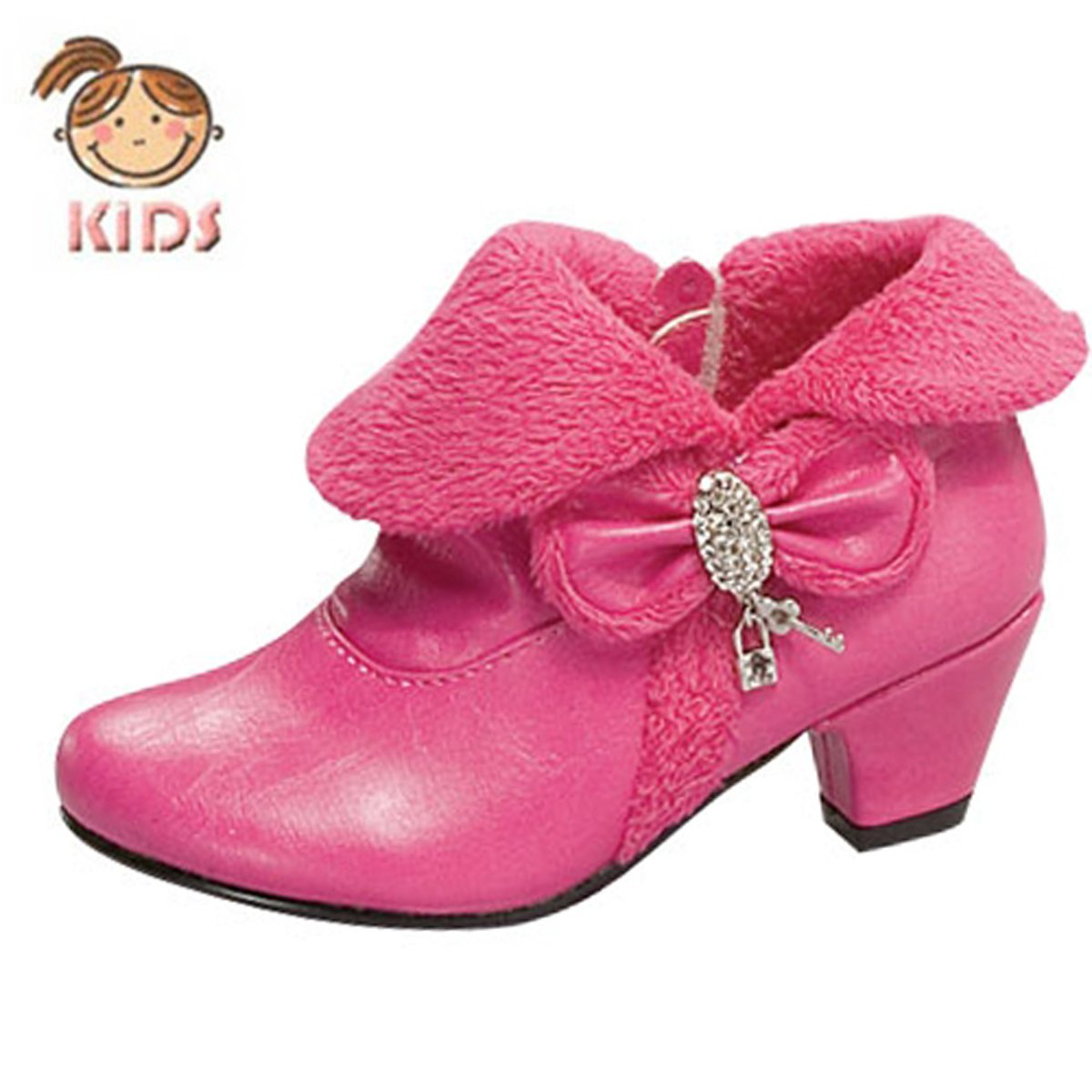 Lucky Top Baby Bow Tie Jewelry Ankle Boots Auto12f White or Fuchsia (7, Fuchsia)