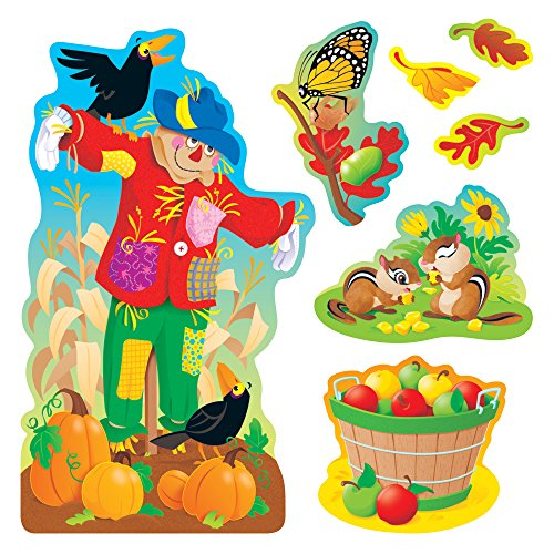 TREND enterprises, Inc. Fall Things Bulletin Board Set (Bulletin Scarecrow Board Set)