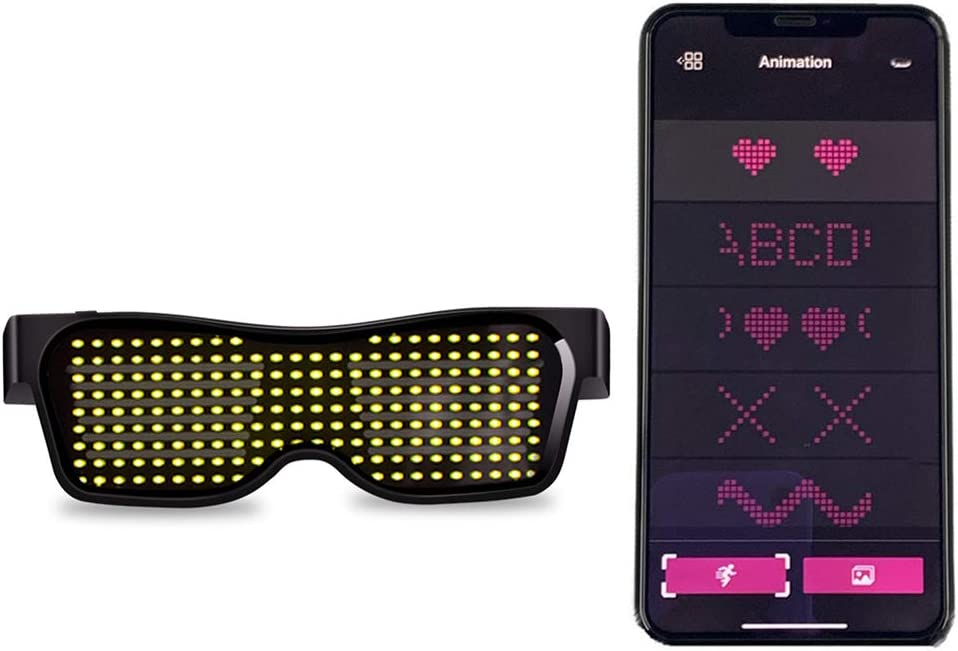Customizable Bluetooth LED Glasses Grow Party Favor Festivals Nightclub Birthday Party Supplies Pink Raves Christmas