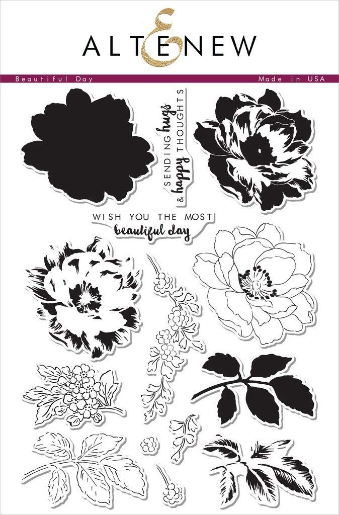 Altenew Beautiful Day 6'' x 8'' Clear Stamp Set Photopolymer