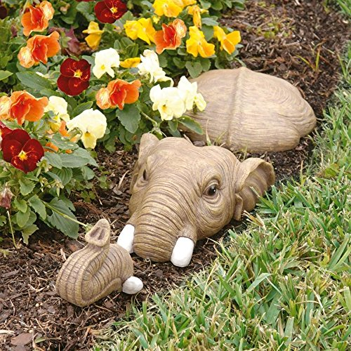 - Design Toscano In For a Swim Elephant Lawn Sculpture