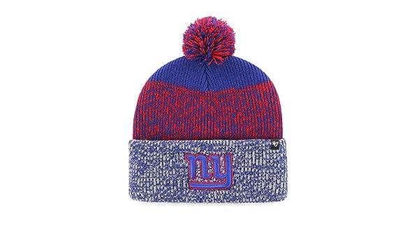 9dfe80e8018 Amazon.com    47 New York Giants NY Beanie Static Cuff Knit Hat   Sports    Outdoors